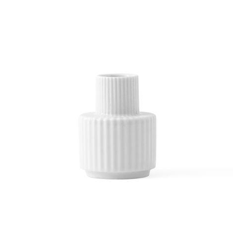Lyngby Kerzenständer Weiß Porzellan 7 cm