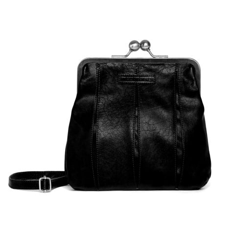 Sticks and Stones Ledertasche Luxembourg Black Washed