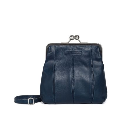 Sticks and Stones Ledertasche Luxembourg Dark Blue Washed