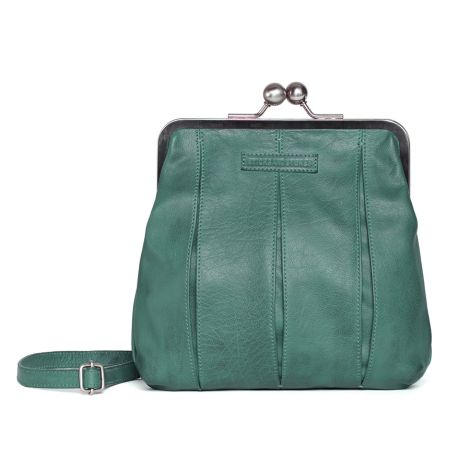 Sticks and Stones Ledertasche Luxembourg Green Spruce Washed