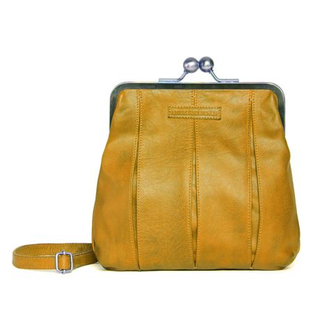 Sticks and Stones Ledertasche Luxembourg Honey Yellow Washed