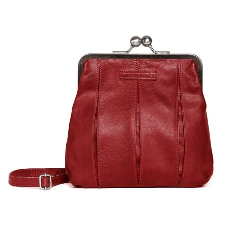 Sticks and Stones Ledertasche Luxembourg Red Washed