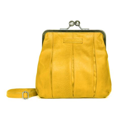 Sticks and Stones Ledertasche Luxembourg Yellow Washed