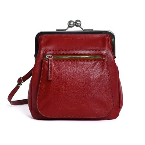 Sticks and Stones Ledertasche Lyon Red Washed