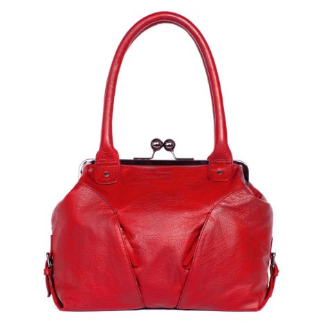 Sticks and Stones Ledertasche Madeira Bright Red Washed •