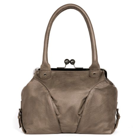 Sticks and Stones Ledertasche Madeira Light Taupe Washed •