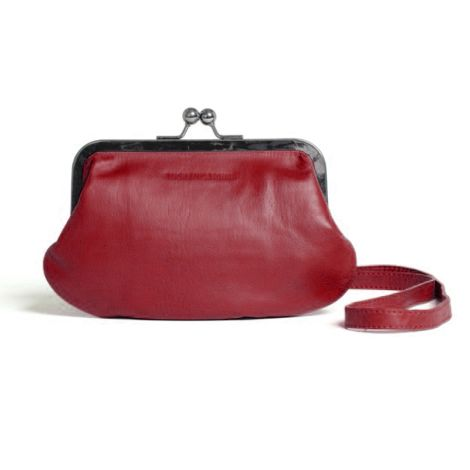 Sticks and Stones Ledertasche Malaga Cherry Red Washed