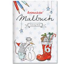 krima & isa Malbuch Weihnachtsmäuse
