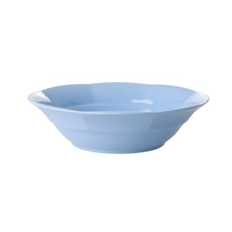 Rice Melamin Suppenteller Pigeon Blue