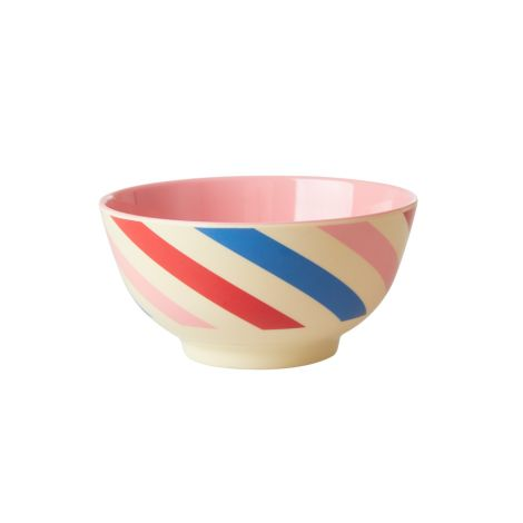 Rice Melamin Schüssel Candy Stripes Two Tone
