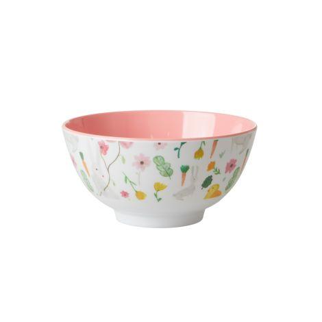 Rice Melamin Schüssel Pink Easter Two Tone
