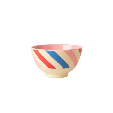 Rice Melamin Schüssel Candy Stripes Two Tone Klein