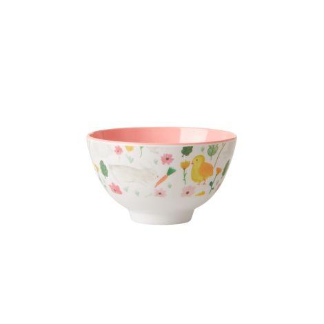Rice Melamin Schüssel Easter Pink Klein