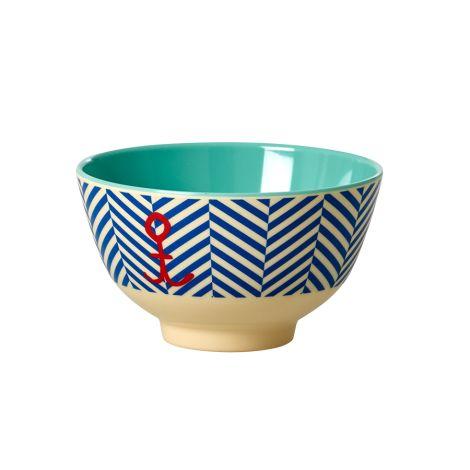 Rice Melamin Schüssel Sailor Stripe mit Anker