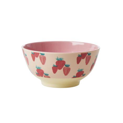 Rice Melamin Schüssel Strawberry Two Tone