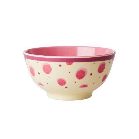 Rice Melamin Schüssel Pink Watercolor Splash Two Tone