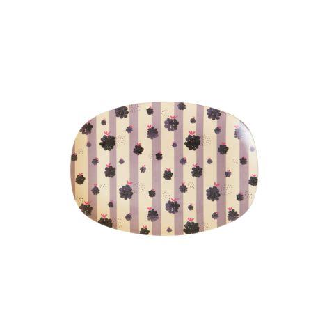 Rice Kleiner Melamin Teller Oval Blackberry Beauty