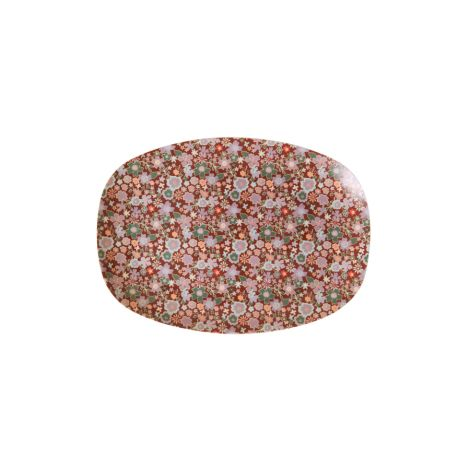 Rice Kleiner Melamin Teller Oval Fall Floral