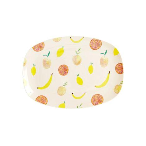 Rice Kleiner Melamin Teller Oval Happy Fruits