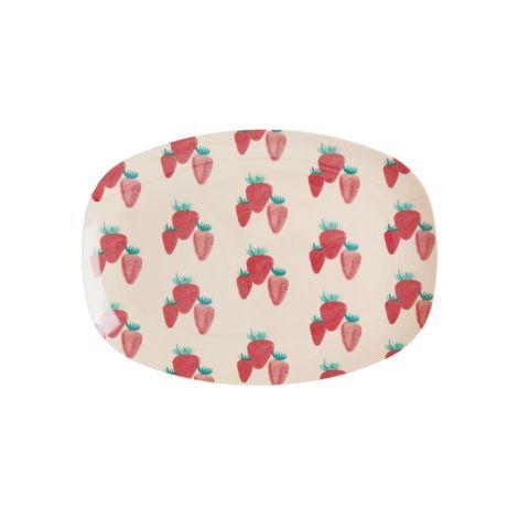 Rice Kleiner Melamin Teller Oval Strawberry