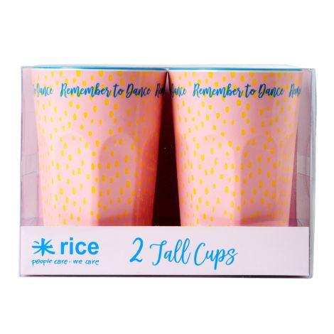 Rice Große Melamin Latte Cups Big Raindot 2er-Set