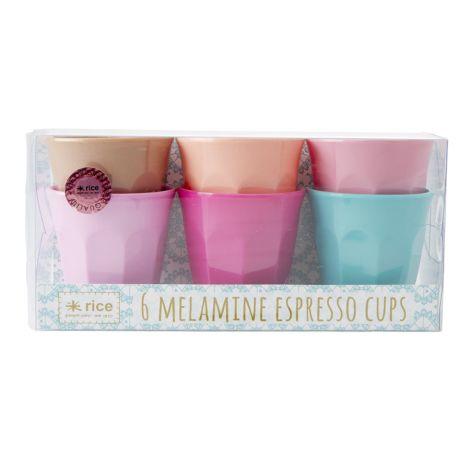 "Rice Melamin Espresso Becher ""LBC"" 6er-Set"