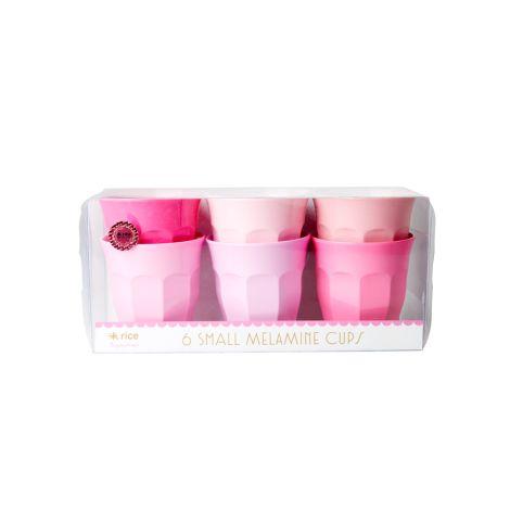 Rice Melamin Becher Curved S 50 Shades of Pink 6er-Set