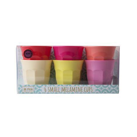 Rice Melamin Becher Geschenkbox Sunny 6er-Set