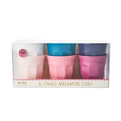 Rice Melamin Becher Klein Simply Yes Colors 6er-Set