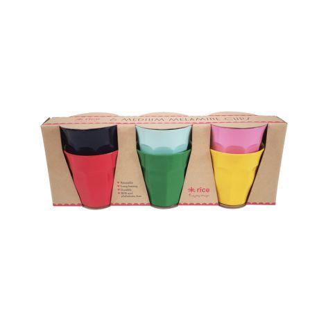 Rice Melamin Becher Favorite Colors 6er-Set