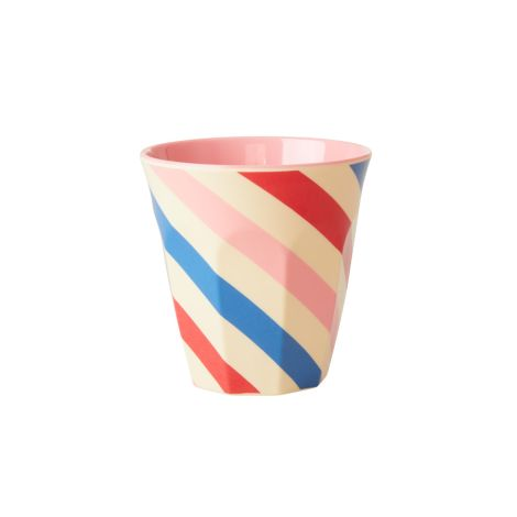 Rice Melamin Becher Candy Stripes Two Tone