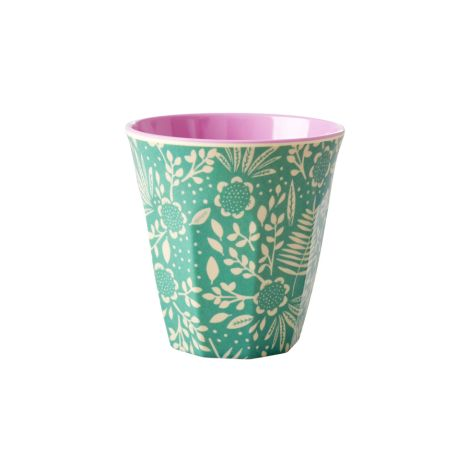 Rice Melamin Becher Two Tone Fern and Flower