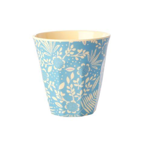 Rice Melamin Becher Blue Fern & Flower