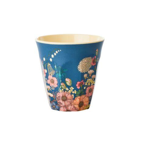 Rice Melamin Becher Flower Collage