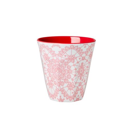 Rice Melaminbecher Two Tone Lace/Coral