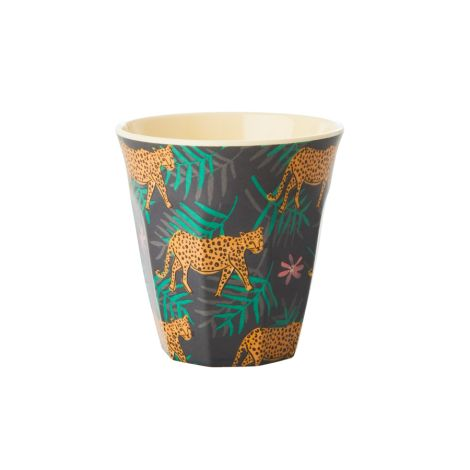 Rice Melamin Becher Leopard and Leaves