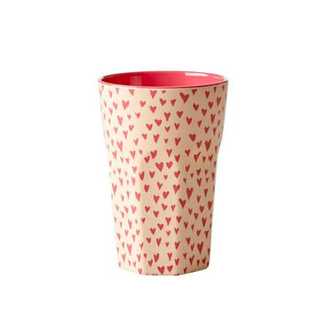 Rice Melamin Becher Small Hearts Two Tone Groß