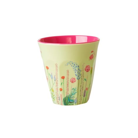 Rice Melamin Becher Summer Flowers Two Tone