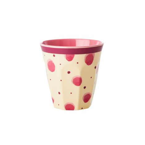 Rice Melamin Becher Pink Watercolor Splash Two Tone