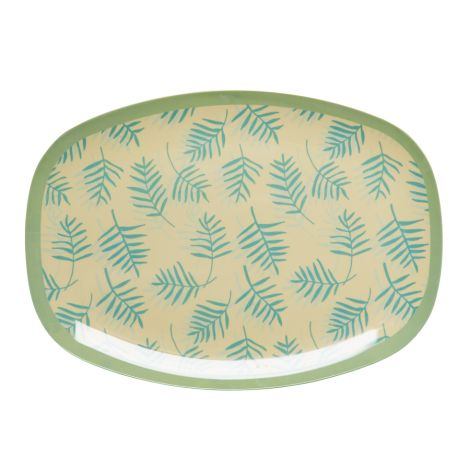 Rice Melamin Teller Oval Palm Leave