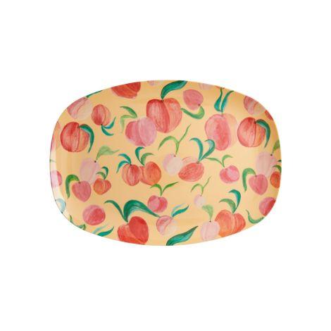 Rice Melamin Teller Oval Peach