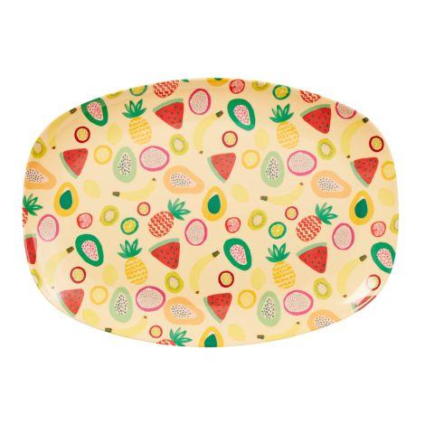 Rice Melamin Teller Oval Tutti Frutti
