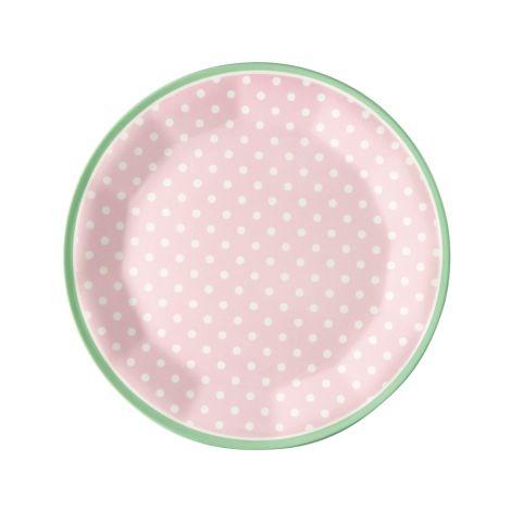 GreenGate Melamin Teller Spot Pale Pink 20 cm