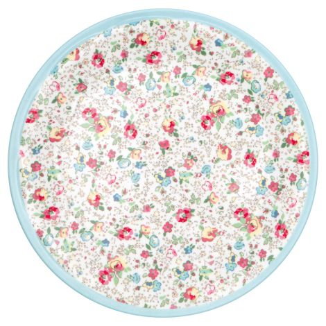 GreenGate Melamin Teller Vivianne White 20 cm