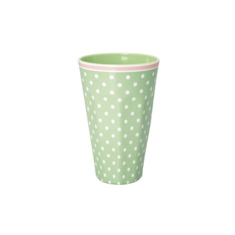 GreenGate Melamin Becher Groß Spot Pale Green