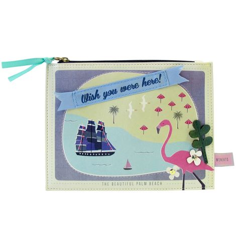 Disaster Designs Make-Up Tasche Memento Beach •