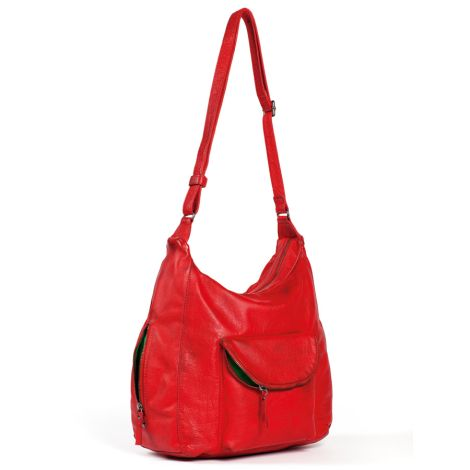 Sticks and Stones Ledertasche Mendoza Bright Red Washed