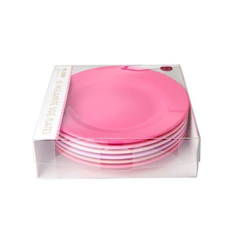 Rice Melamin Teller 50 Shades of Pink 6er-Set
