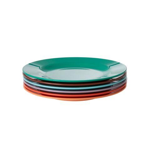 Rice Melamin Teller Follow The Call of The Disco Ball Colors 6er-Set