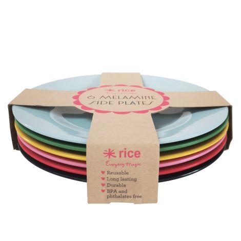 Rice Melamin Teller Favorite Colors 6er-Set